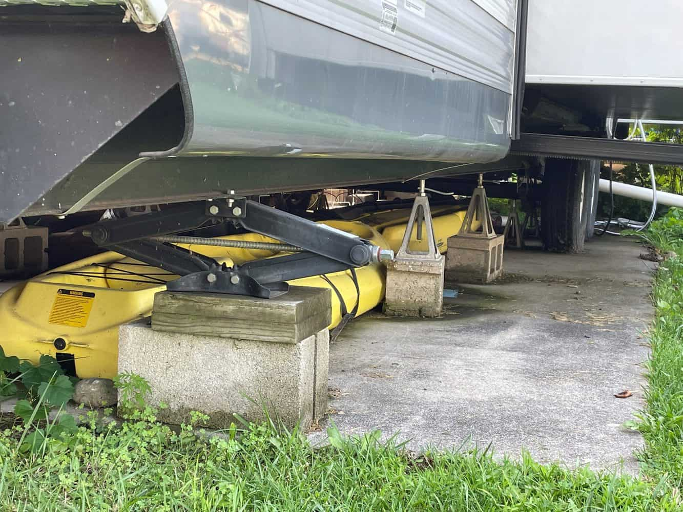 How To Level A Travel Trailer On A Permanent Site